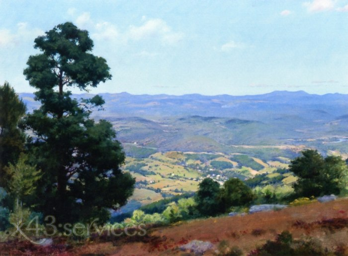 Charles Courtney Curran - Ansicht ueber Ellenville New York - View over Ellenville New York