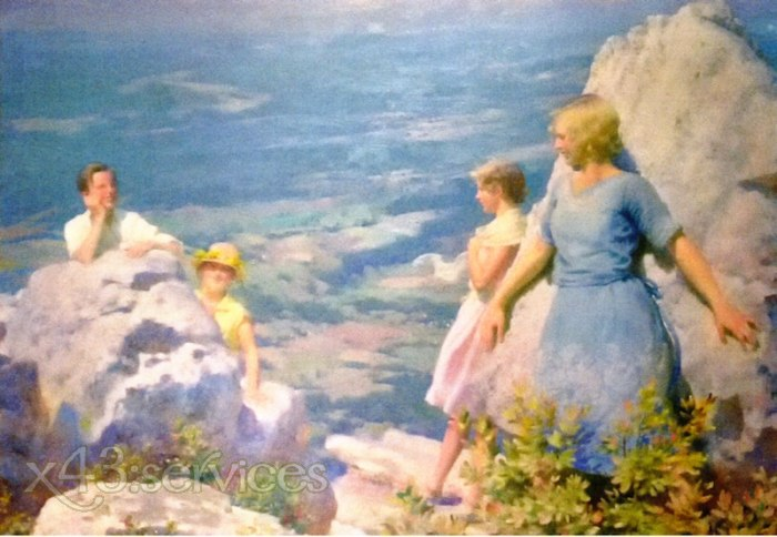 Charles Courtney Curran - Blau und Gold - Blue and Gold