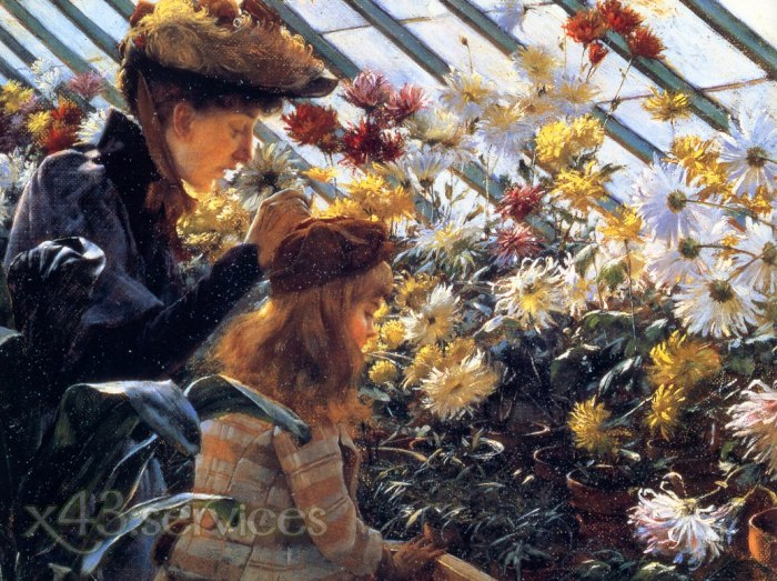 Charles Courtney Curran - Chrysanthemen - Chrysanthemums