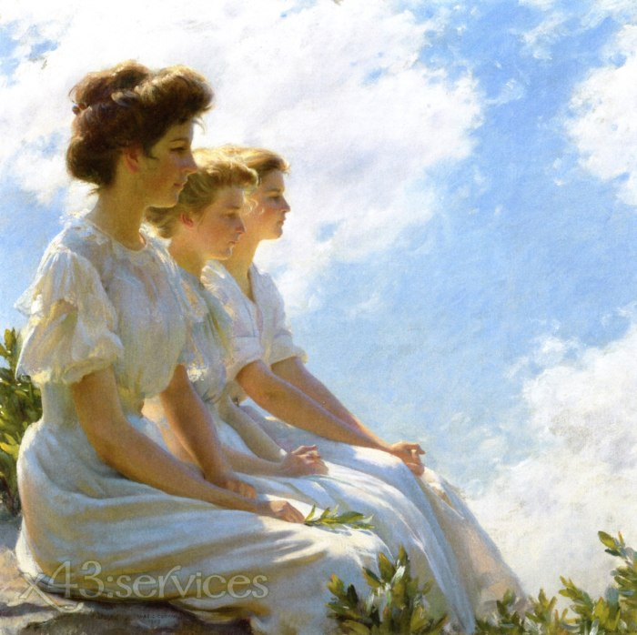 Charles Courtney Curran - Auf den Hoehen - On the Heights