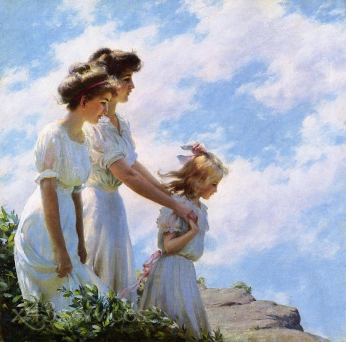 Charles Courtney Curran - Auf der Klippe - On the Cliff