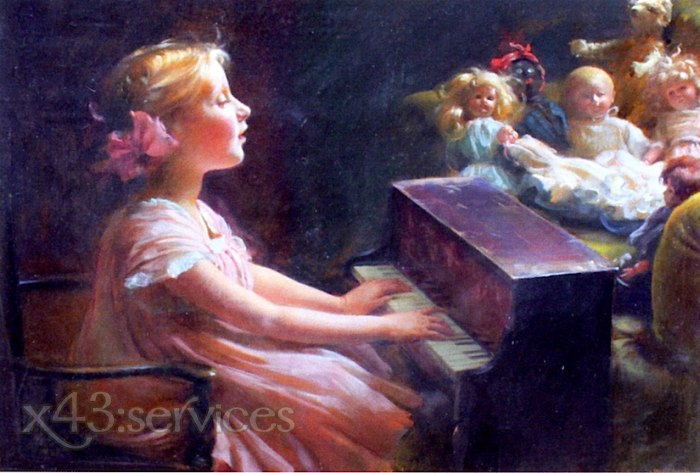 Charles Courtney Curran - Das Konzert - The Concert