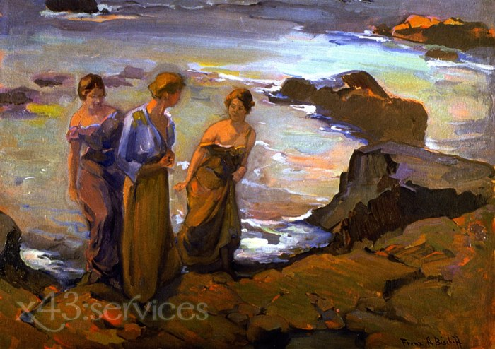 Franz Bischoff - Drei Frauen an der Kueste - Three Women at the Seashore