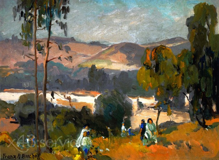 Franz Bischoff - Picknick im Arroyo - Picnic in the Arroyo