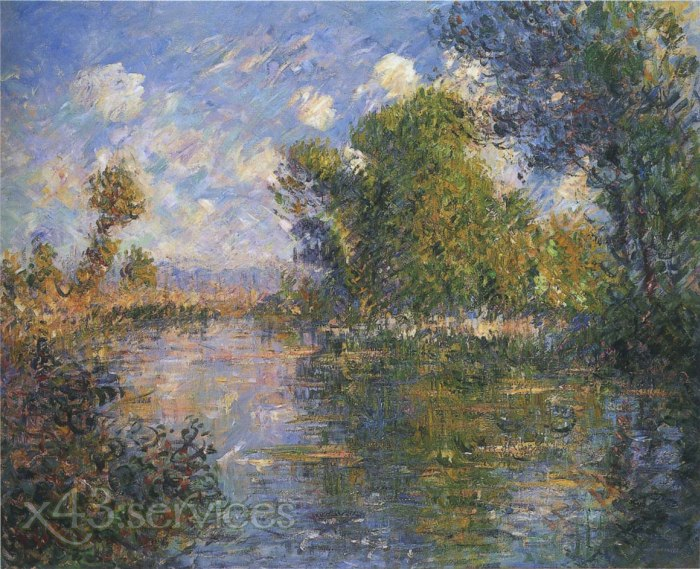 Gustave Loiseau - Bei dem Eure Fluss im Herbst - By the Eure River in Autumn