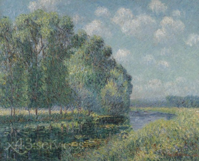 Gustave Loiseau - Bei dem Eure Fluss in Fruehling - By the Eure River in Spring