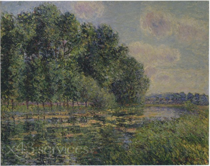 Gustave Loiseau - Bei dem Eure Fluss in Sommer - By the Eure River in Summer 1