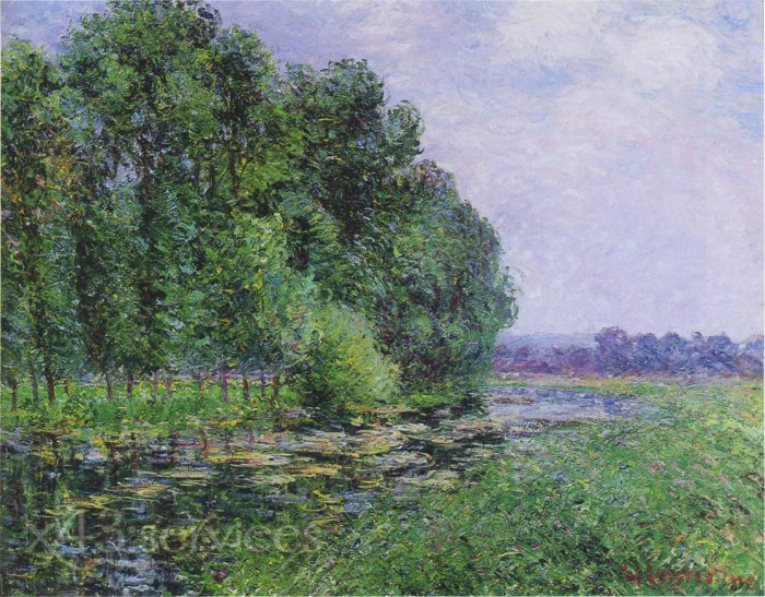 Gustave Loiseau - Bei dem Eure Fluss in Sommer - By the Eure River in Summer