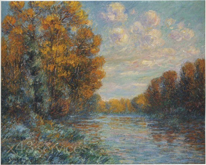 Gustave Loiseau - Bei dem Fluss in Herbst - By the River in Autumn 2