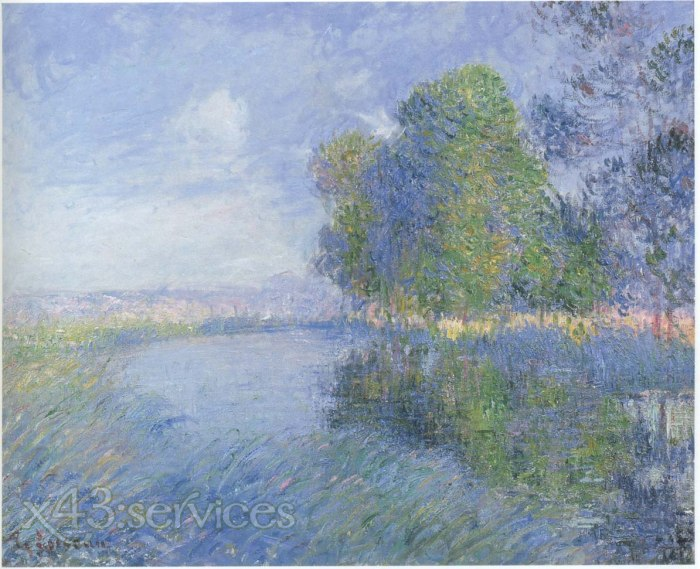 Gustave Loiseau - Bei dem Fluss in Herbst - By the River in Autumn
