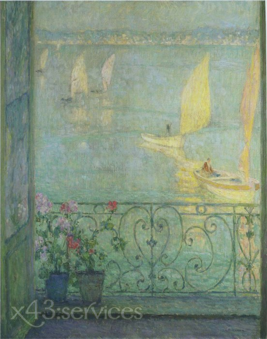 Henri Le Sidaner - Das Fenster in Croisic - The Window at Croisic