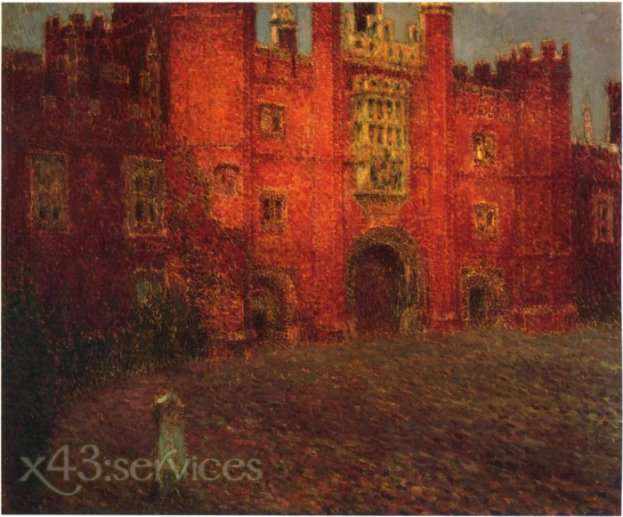Henri Le Sidaner - Das grosse Tor von Hampton Court - The Great Gate at Hampton Court