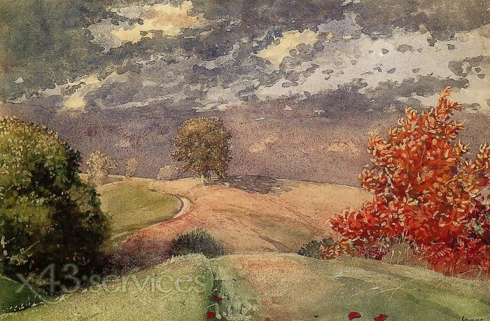 Homer Winslow - Herbst Mountainville New York - Autumn Mountainville New York