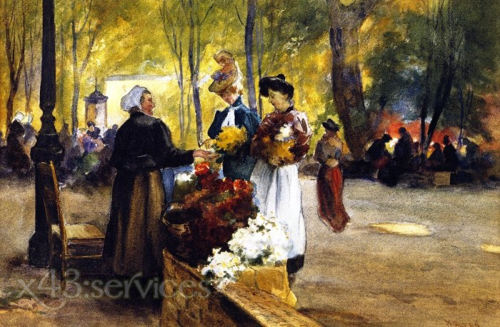 Mathias J Alten - Blumenverkaeufer - Flower Vendors