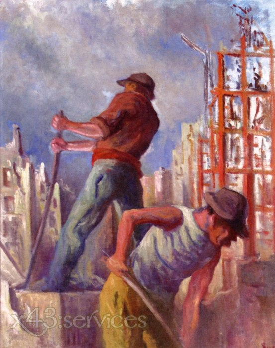 Maximilien Luce - Arbeiter auf einer Baustelle - Workers on a Building Site
