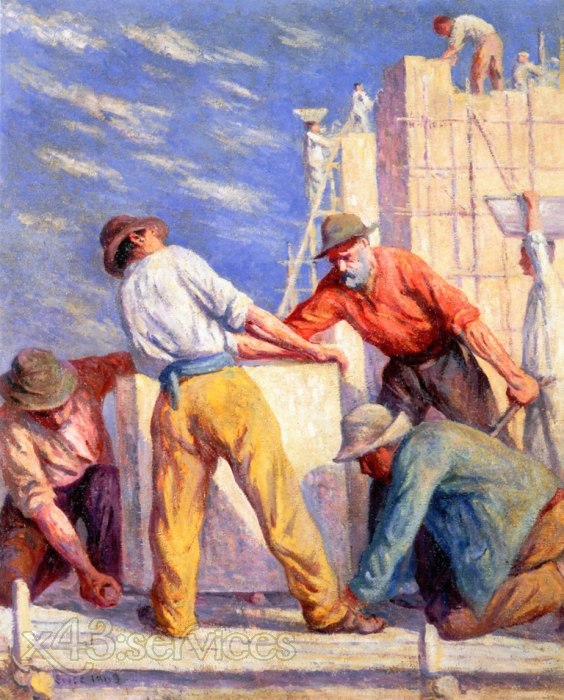 Maximilien Luce - Arbeiter auf einer Baustelle - Workers on a Construction Site