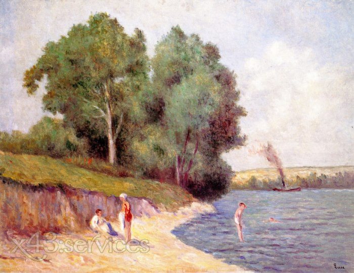 Maximilien Luce - Baden mit Schlepper - Bathing with Tugboat
