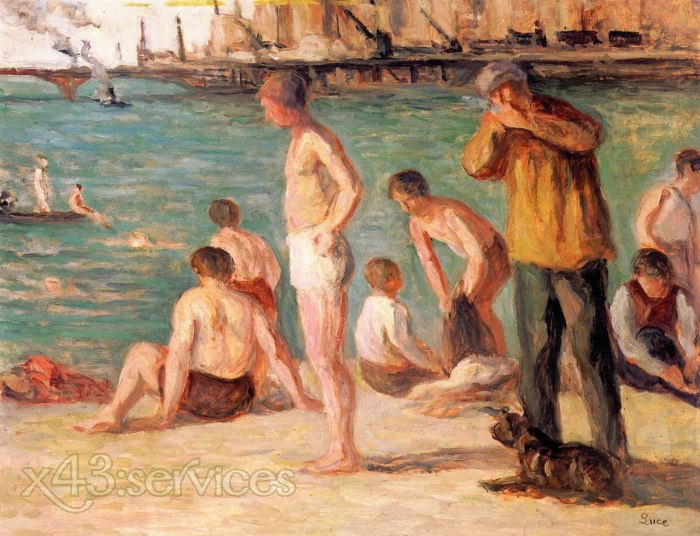 Maximilien Luce - Badende - Bathers