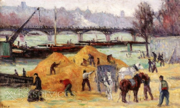 Maximilien Luce - Baustelle am Ufer der Seine - Building Site on the Banks of the Seine