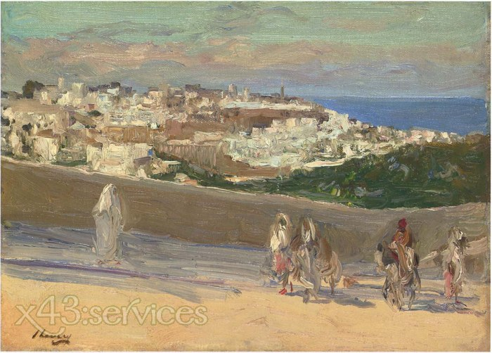 Sir John Lavery - Auf der Fez Strasse Tanger - On the Fez Road Tangiers