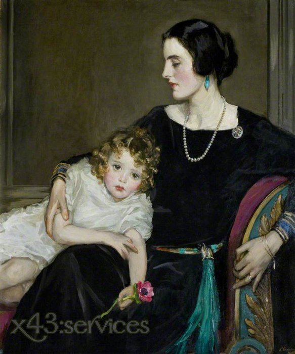 Sir John Lavery - Anne Moira und die ehrenvolle Frau Forbes Sempill - Anne Moira and the Honourable Mrs Forbes Sempill