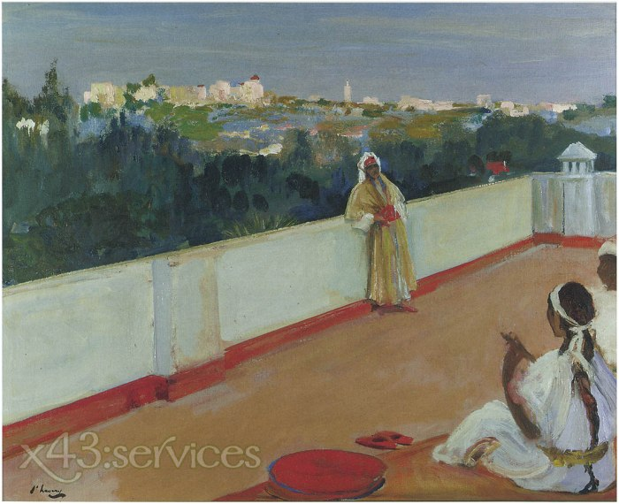 Sir John Lavery - Abend auf dem Hausdach - Evening on the House roof