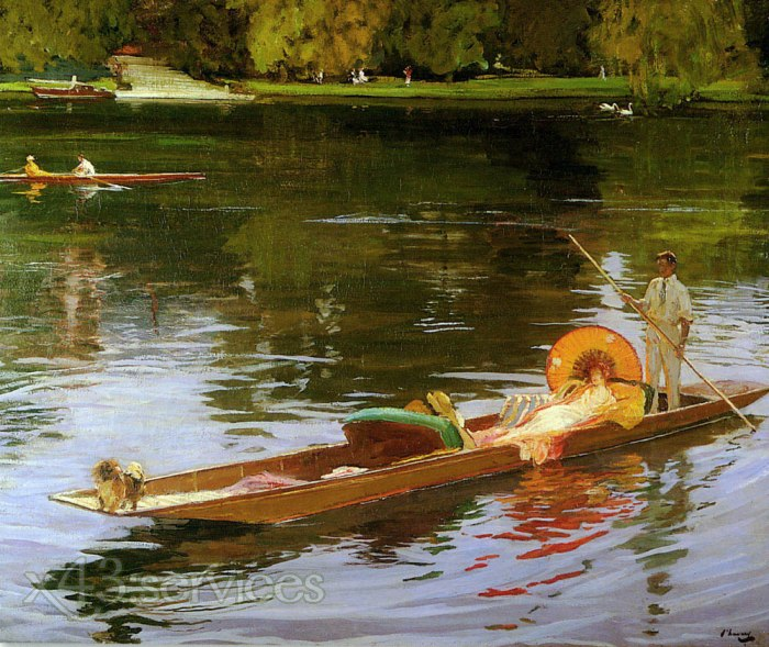 Sir John Lavery - Bootsfahrten auf der Themse - Boating on the Thames