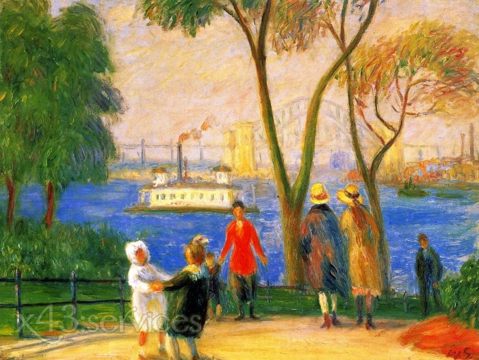 William James Glackens - Carl Schurz Park New York