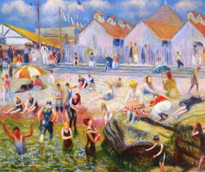 William James Glackens - Am Strand - At the Beach