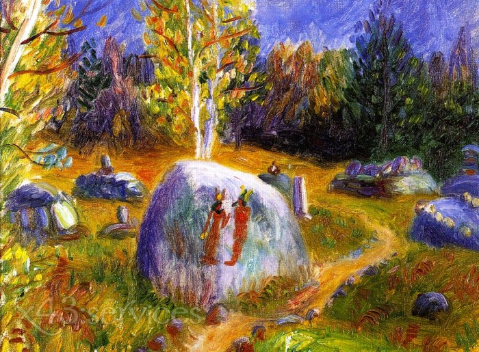 William James Glackens - Aegyptisches Graeberfeld der Ira und Lenna - Ira and Lenna s Egyptian Burial Ground