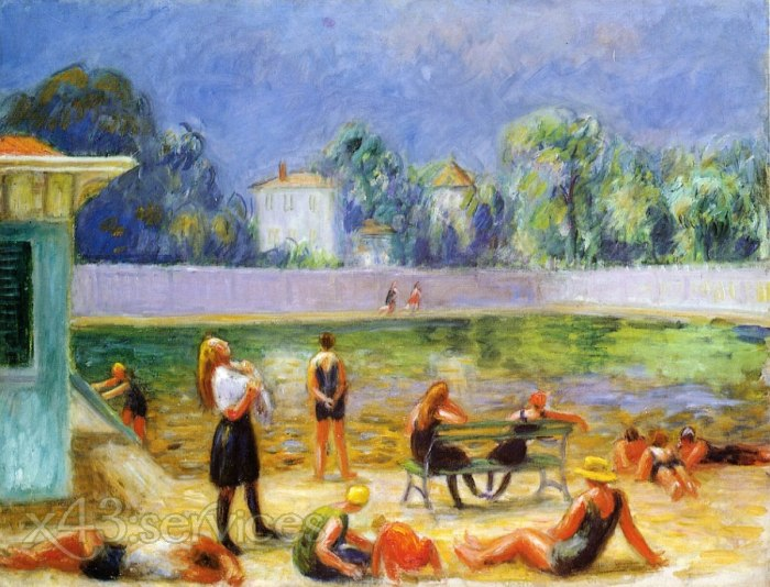 William James Glackens - Aussenschwimmbad - Outdoor Swimming Pool