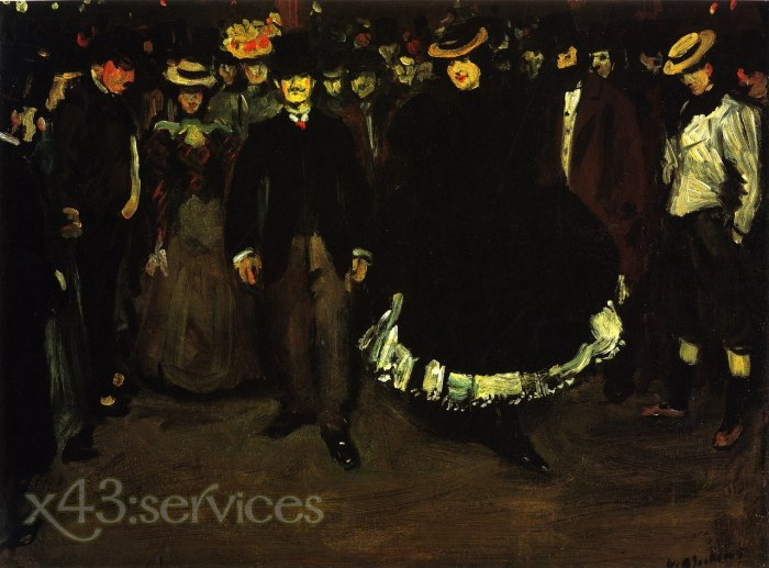 William James Glackens - Ball Bullier - Bal Bullier