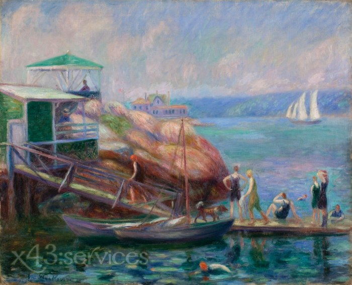 William James Glackens - Bootsanlegestelle in Gloucester - Boat Landing at Gloucester