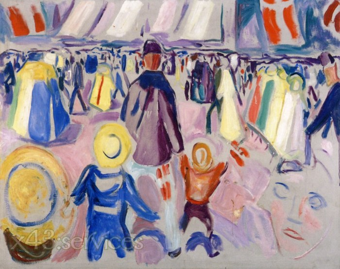 Emile Bernard - 17 Mai in einer kleinen norwegischen Stadt - 17th of May in a Small Norwegian Town