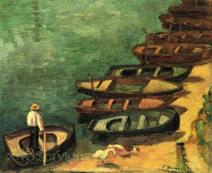 Emile Bernard - Boote bei Pont Aven - Boats at Pont Aven