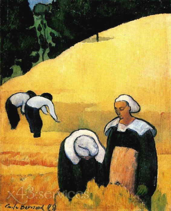 Emile Bernard - Die Ernte - The harvest