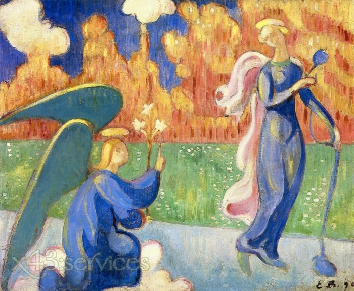 Emile Bernard - Die Verkuendigung - The Annunciation