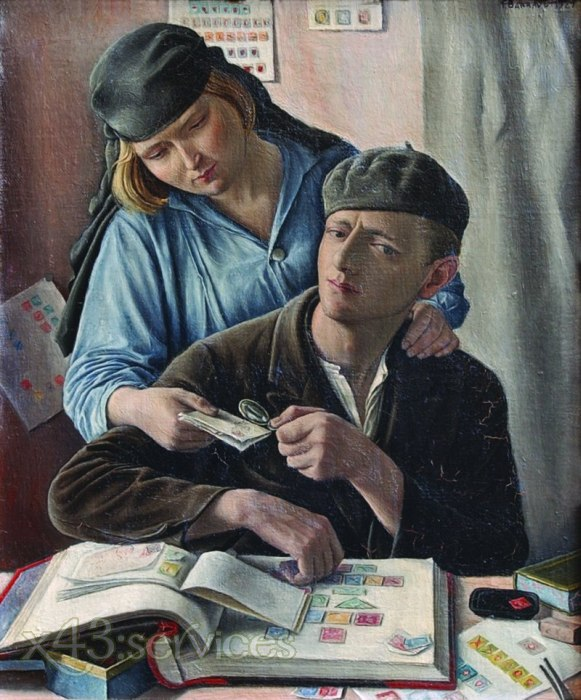 Francois-Emile Barraud - Die Briefmarkensammler - The philatheliste