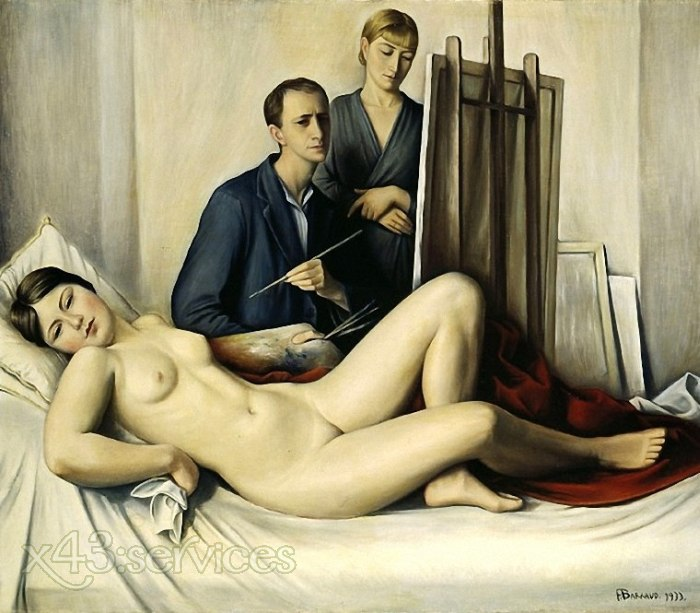 Francois-Emile Barraud - Die Malsitzung - The Painting Session