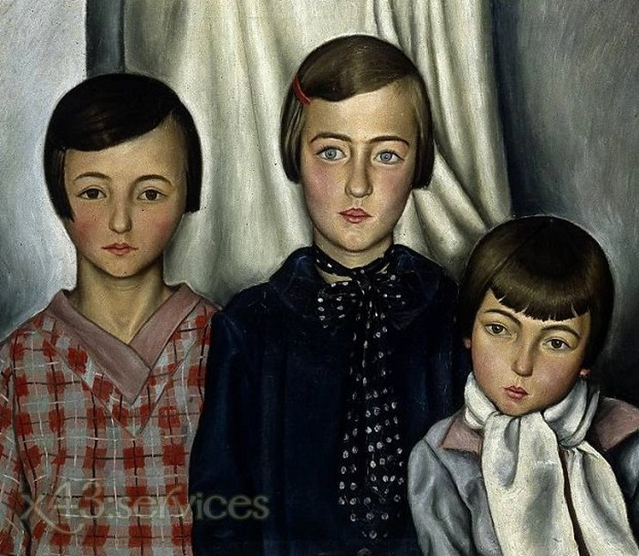 Francois-Emile Barraud - Drei Kinder - Three Children
