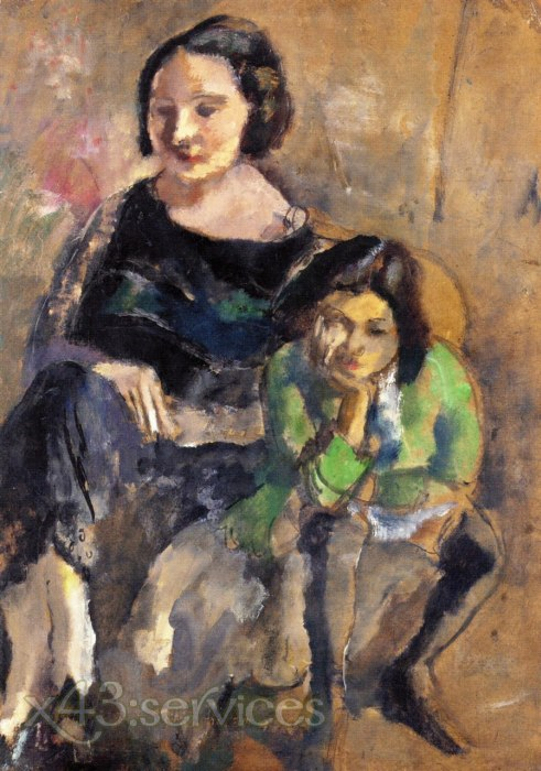 Jules Pascin - Andree und Simone - Andree and Simone