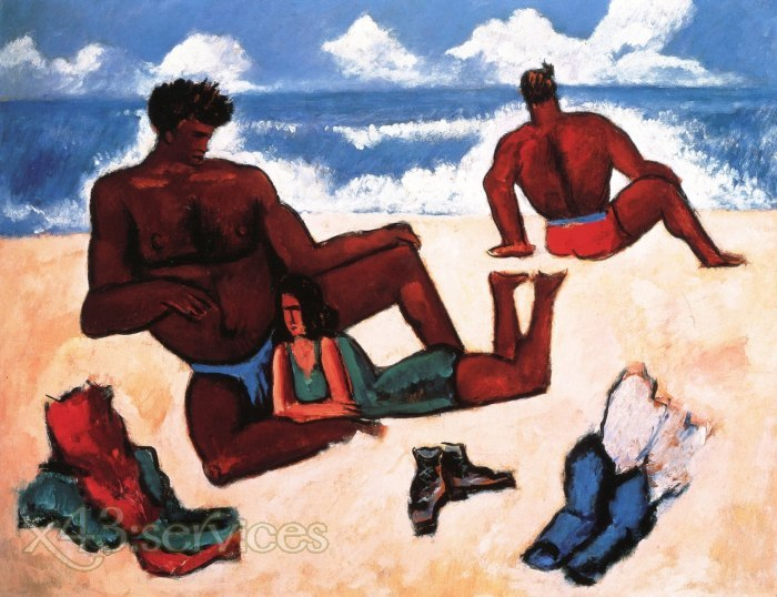 Marsden Hartley - Am Strand - On the Beach