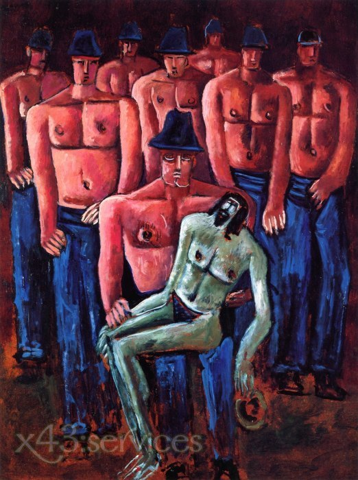 Marsden Hartley - Christus gehalten von halbnackten Maenner - Christ Held by Half Naked Men