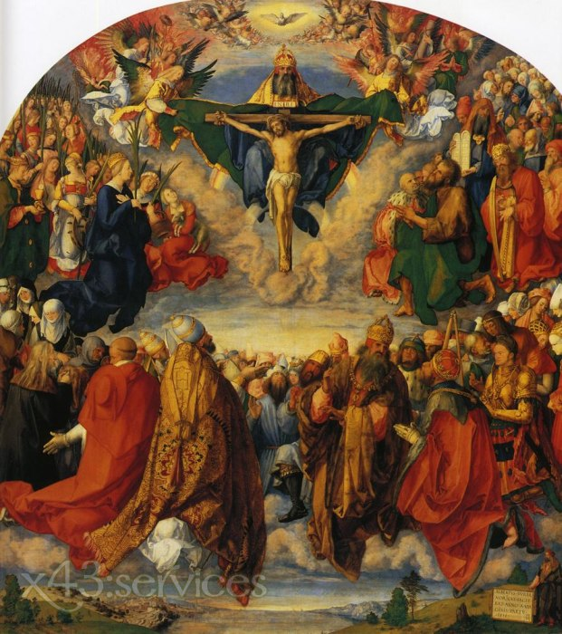 Albrecht Duerer - Anbetung der Dreiheit - Adoration of the Trinity