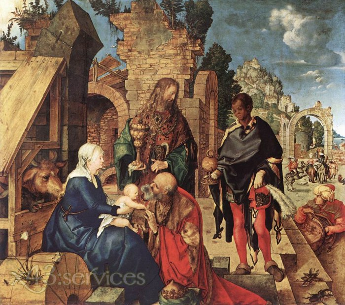 Albrecht Duerer - Anbetung der Koenige - Adoration of the Magi