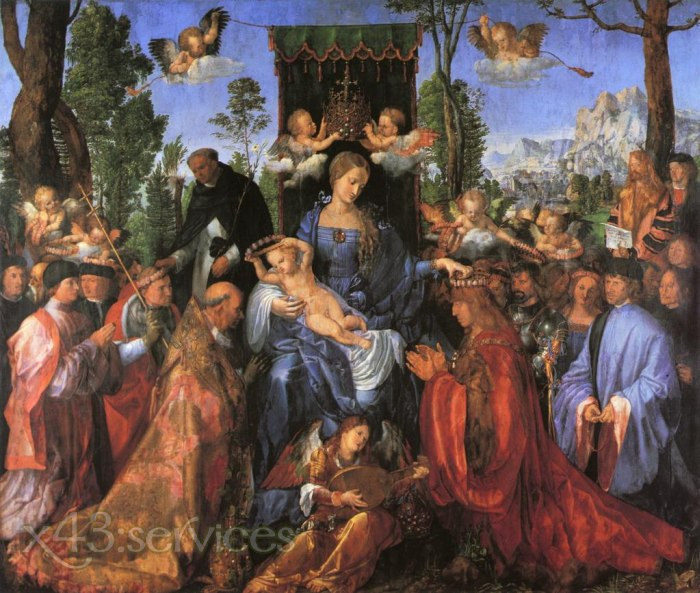 Albrecht Duerer - Das Fest der Rosengirlanden - The Feast of the Rose Garlands