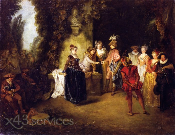 Antoine Watteau - Das franzoesische Theater - The French Theater