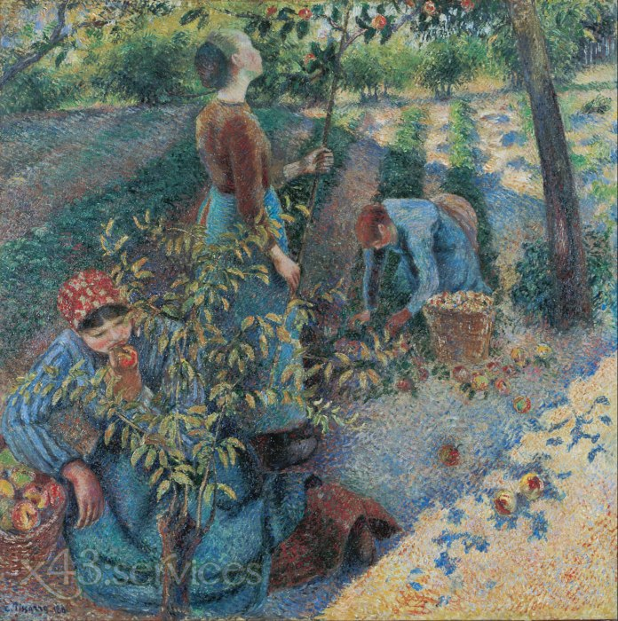 Camille Pissarro - Apfelpflucken - Apple Picking 1