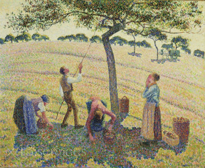 Camille Pissarro - Apfelpfluecker Eragny - Apple Pickers Eragny