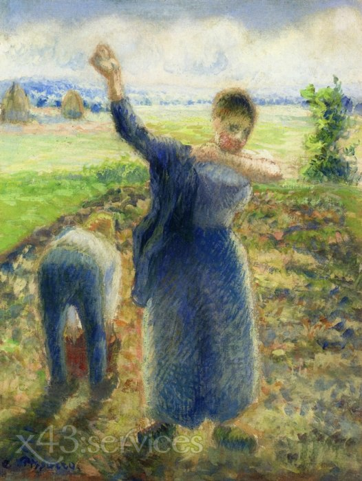 Camille Pissarro - Arbeiter in den Feldern - Workers in the Fields